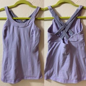 LULULEMON ATHLETICA size 4 purple sleeveless tank